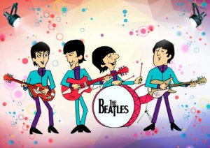 Quadro Decorativo The Beatles Ilustrations - MS0004