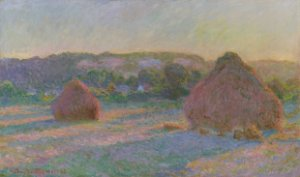 Quadro Decorativo Claude Monet Wheatstacks (End of Summer) - PT0001