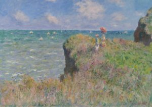 Quadro Decorativo Claude Monet Cliff Walk at Pourville - PT0003