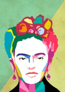 Quadro Decorativo Frida Kahlo Color - PT0012