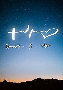 Quadro Decorativo Esperança, Fé e Amor - FM0001