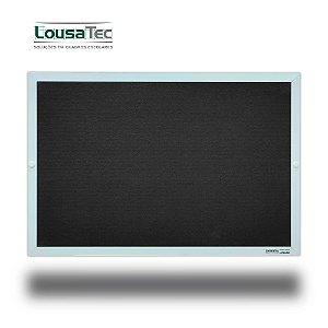 Quadro Edital de Aviso Simples - Feltro Preto - Moldura Alumínio Epoxi Branco