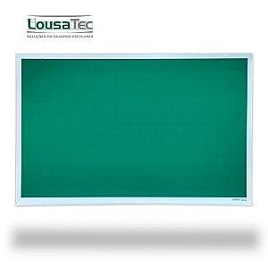 Quadro Verde Quadriculado Reto - Lousa Profissional - Moldura Alumínio Epoxi Branco