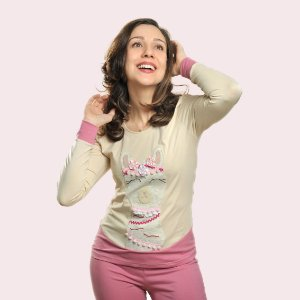 Pijama Longo Inverno Lhama Feminino