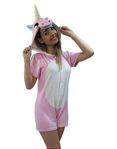 Pijama macacão unicórnio curto