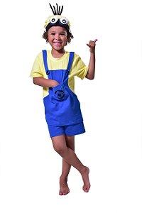 Pijama infantil curto minions