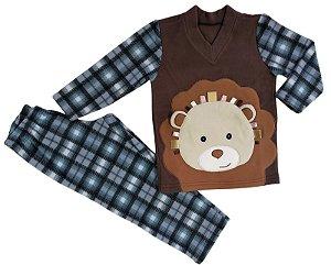 Pijama infantil masculino soft leão
