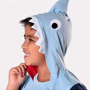 Fantasia Tubarão Pijama Baby shark curto infantil