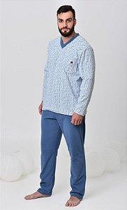 Pijama masculino de inverno soft pai e filho
