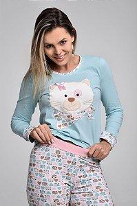 Pijama Unicórnio Longo Kigurumi Cosplay Pom Pom
