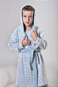 Roupão chambre infantil estrelinhas  Azul