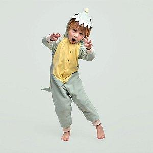 Pijama Fantasia Inverno Longo Infantil Dinossauro Rex