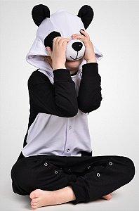 Panda Macacão Pijama Fantasia Kigurumi Infantil