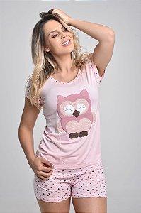 Pijama Coruja Curto Short
