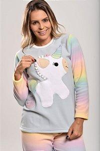 Pijama Inverno Unicórnio Colorido