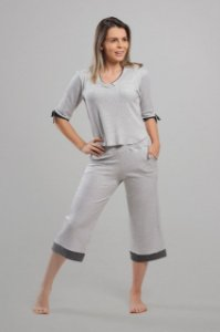 Pijama Elegante Pantacourt Homewear