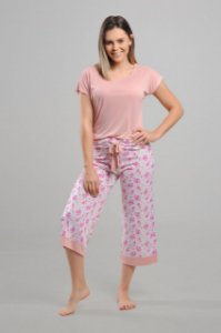 Pijama Pantacourt Liganete Floral Homewear