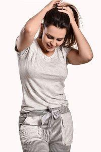 Pijama Agasalho listrado Homewear