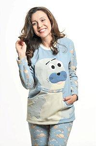 Pijama Soft Foca Mãe - Modelo Família