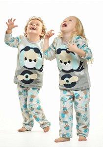Pijama Urso Aviador Soft Infantil - Modelo Família