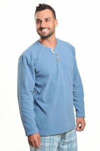 Pijama Longo Soft Urso de óculos I Masculino - Modelo Família