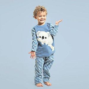 Pijama Inverno Soft Coala Filho - Modelo Família