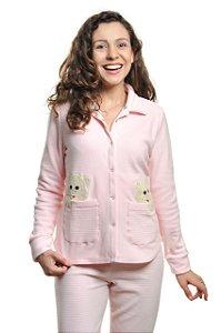 Pijama Abotoado Inverno Amamentação Urso no Bolso - Microsoft