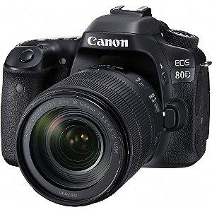 Câmera Canon DSLR 80D Kit Lente 18-35mm
