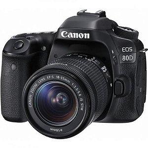 Câmera Canon DSLR 80D Kit Lente 18-55mm