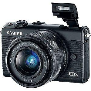 Câmera Canon M100  kit Lente 15-45mm 24.2Mpx