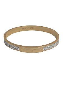 1c50e76b51b Bracelete Michael Kors Dourado Zircônia
