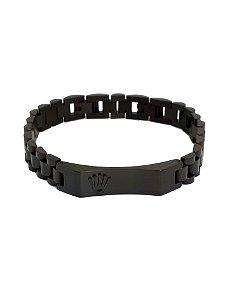 f68a2a25a42 Pulseira Rolex em Aço Black Placa