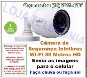 Câmera De Segurança sem fio Wi-fi Intelbras