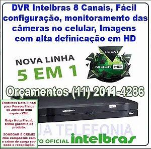 Gravador De Vídeo Dvr Mhdx 1008 Intelbras