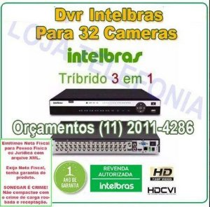 Gravador Digital De Vídeo DVR 32 canais Intelbras
