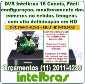 Gravador Digital De Vídeo DVR 16 canais Intelbras