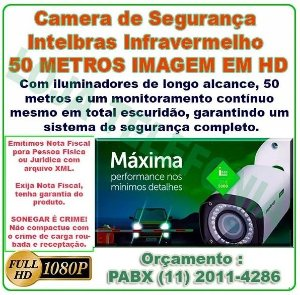 Instalação de Câmera de Segurança -  Intelbras Full Hd 50 metros