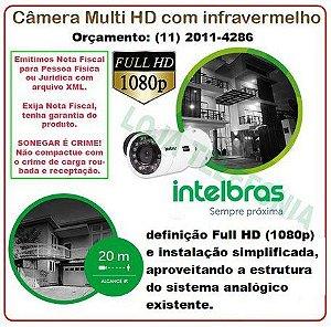 Câmera de Segurança IntelbrasFull HD 20 metros