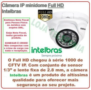 Câmera de Segurança Intelbras IP minidome Full HD