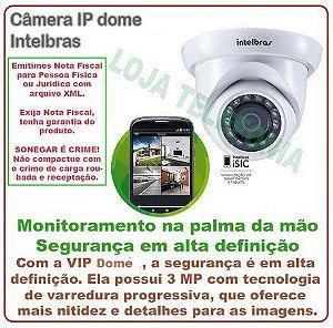 Câmera de Segurança Intelbras IP dome