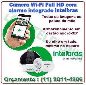 Câmera de Segurança Wi-Fi Full HD com alarme integrado Intelbras
