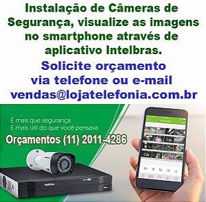 Instalação de Câmeras de Segurança em Santo André - Autorizada Intelbras