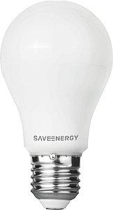 Lâmpada Bulbo LED Save Energy Bivolt 9,5W 6500K (Luz Fria)
