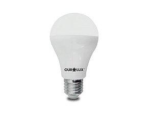 Lâmpada Bulbo LED Ourolux Bivolt 15W 3000K (Luz Quente)