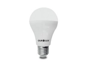 Lâmpada Bulbo LED Ourolux Bivolt 15W 6500K (Luz Fria)