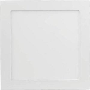 Placa de LED de Sobrepor Save Energy Bivolt 12W 3000K (Luz Quente) 17x17CM