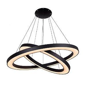 Pendente com LED Atom Forma da Luz Preto 3000K (Luz Quente)