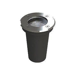 Embutido de Solo LED Aro Inox Save Energy 8W 2700K (Luz Quente)