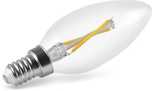 Lâmpada Vela LED Filamento Bivolt Save Energy E14 2W 220V 2400K (Luz Quente)