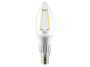 Lâmpada Vela LED Filamento Ourolux Bivolt E14 3W 6000K (Luz Fria)